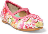Ralph Lauren Nellie Floral Ballet Flat