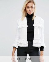 Helene Berman Raw Edge Ruffle Jacket