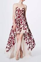 Marchesa Floral Organza Gown