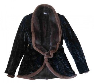 Anna Molinari Black Fur Coat for Women