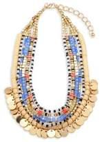 Cara Beaded Goldtone Necklace
