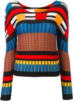 Issey Miyake sheer detail longsleeved blouse