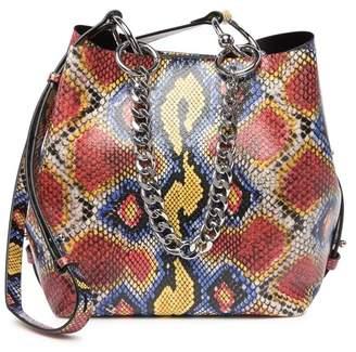 Rebecca Minkoff Kate Medium Snake Embossed Leather Convertible Bucket Bag