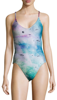 Wildfox Couture Solar System Print One Piece Swimsuit