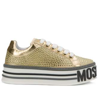 Moschino crystal embellished platform sneakers