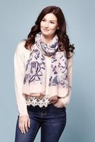 Yumi Butterfly Sketch Scarf Grey