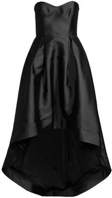 Parker Black Roxanne Satin Strapless High-Low Gown