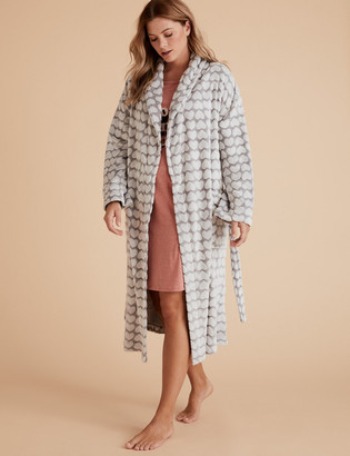 Marks and Spencer Fleece Heart Print Dressing Gown