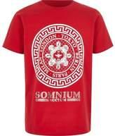 River Island Boys red 'somnium' foil print T-shirt
