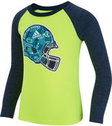 adidas Raglan-Style Long-Sleeve Graphic-Print T-Shirt, Little Boys