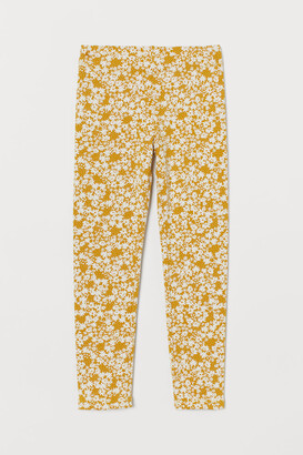 H&M Leggings with Brushed Inside - Yellow