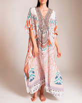 Camilla Desert Rose Lace-Up Kaftan