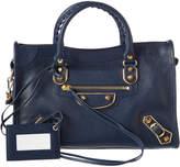 Balenciaga Classic Gold Edge City Small Leather Shoulder Bag