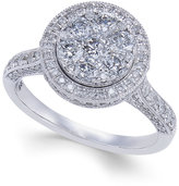 Macy's Diamond Round Halo Engagement Ring (1-1/4 ct. t.w.) in 14k White Gold