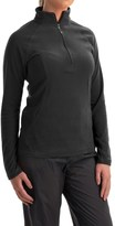 White Sierra Hexi Fleece Shirt - Zip Neck, Long Sleeve (For Women)