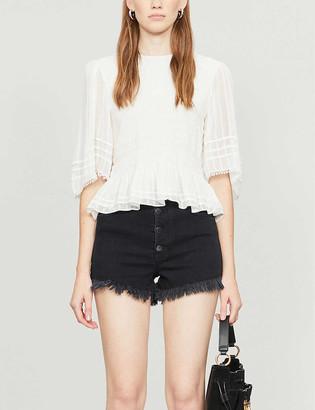 Maje Irino stretch-denim shorts