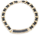 House Of Harlow Leather Woven Chainlink Necklace