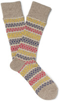 Anonymous Ism - Patterned Knitted Socks - Beige