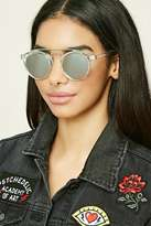 Forever 21 FOREVER 21+ Mirrored Round Sunglasses