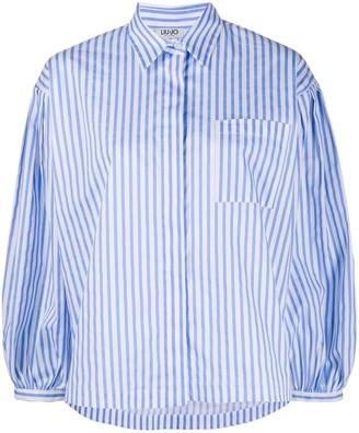 Liu Jo Striped Boxy-Fit Shirt