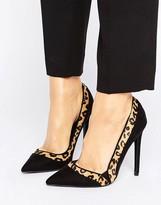 Paper Dolls Leopard Contrast Court Shoe