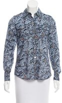Tory Burch Floral Print Button-Up Top