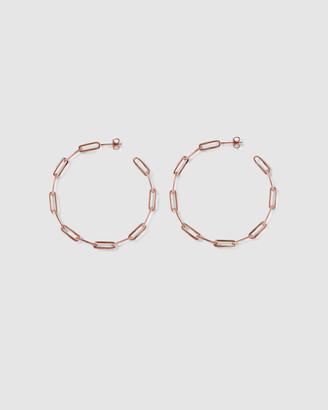 Ca Jewellery Link Chain Hoop Earrings Rose