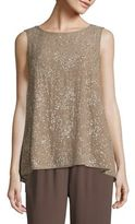 Eileen Fisher Beaded Silk Top