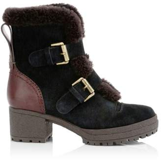 See by Chloe Shearling-Lined Suede Booties