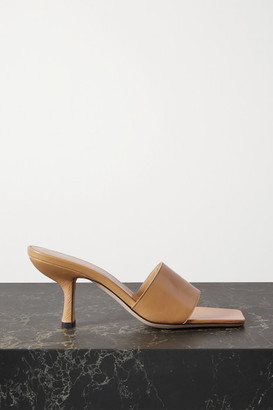BY FAR Dylan Leather Mules - Tan