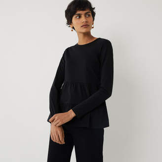 Warehouse TIERED LONG SLEEVE TOP