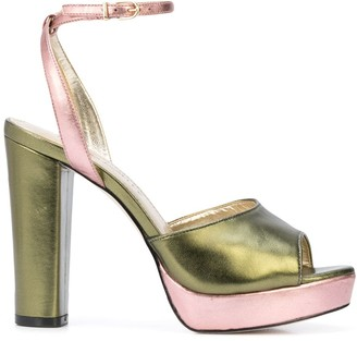 Cynthia Rowley two tone metallic pumps