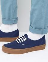 Vans Authentic Sneakers with Gumsole