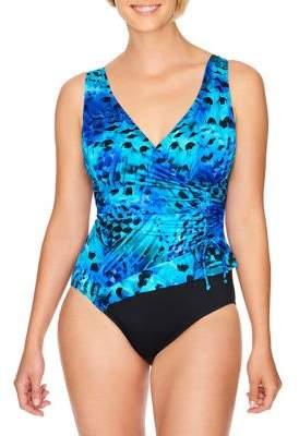 Longitude Feathered One-Piece Swimsuit