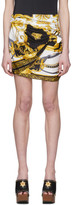 Versace Black and Gold Wrapped The Rodeo Queen Miniskirt