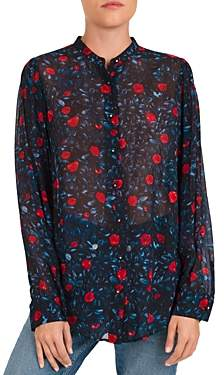 The Kooples Poison Roses Floral Print Shirt
