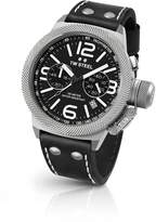 TW Steel Men's 'Canteen' Quartz Stainless Steel and Leather Dress Watch, Color: (Model: CS3)