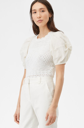 Rebecca Taylor Sheer Pointelle Top