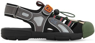 Gucci Leather, Mesh & Rubber Sandals