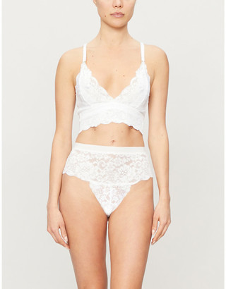 We Are HAH Smarty stretch-lace bralette