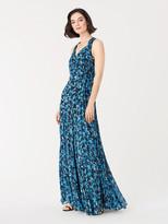 Diane von Furstenberg Brennan Chiffon Maxi Wrap Dress