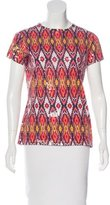 Tory Burch Sequined Short Sleeve Top