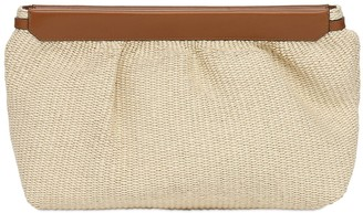Isabel Marant Luz Canvas & Leather Clutch