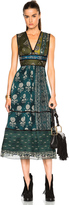 Burberry Geometric Floral Print Silk Crepon Dress
