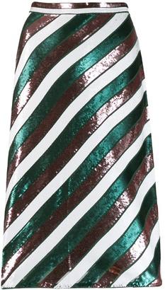 Dvf Diane Von Furstenberg Sequin Stripe Skirt
