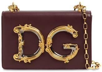 Dolce & Gabbana Girls Barocco Leather Shoulder Bag