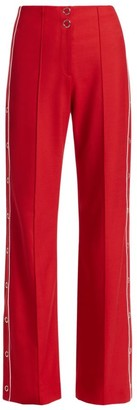Jonathan Simkhai Side Snap Wool Trousers