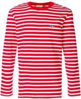 MAISON KITSUNÉ long-sleeve stripe T-shirt