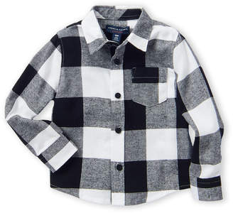 French Toast (Infant Boys) Long Sleeve Flannel Shirt