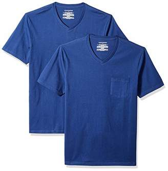 Amazon Essentials 2-Pack Slim-Fit V-Neck Pocket T-Shirt,X-Large (EU XL-XXL)